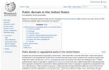 http://en.wikipedia.org/wiki/Public_domain_in_the_United_States