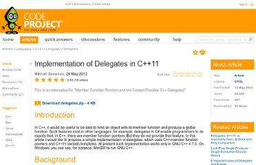 http://www.codeproject.com/Articles/384572/Implementation-of-Delegates-in-Cplusplus11