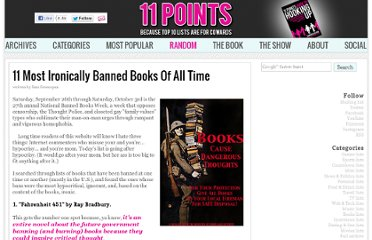 http://www.11points.com/Books/11_Most_Ironically_Banned_Books_Of_All_Time