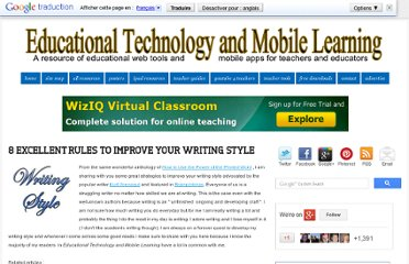 http://www.educatorstechnology.com/2013/01/8-excellent-rules-to-improve-your.html