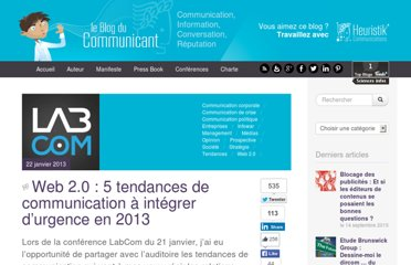 http://www.leblogducommunicant2-0.com/2013/01/22/web-2-0-5-tendances-de-communication-a-integrer-durgence-en-2013/