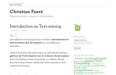 http://www.christian-faure.net/2007/05/30/introduction-au-text-mining/