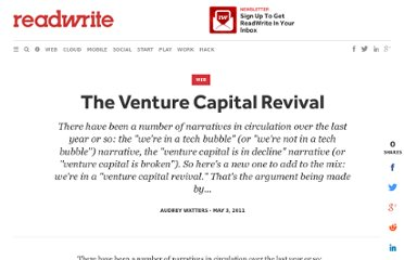 http://readwrite.com/2011/05/02/the-venture-capital-revival