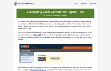 http://www.particletree.com/notebook/calculating-color-contrast-for-legible-text/