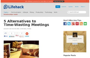 http://www.lifehack.org/articles/featured/5-alternatives-to-time-wasting-meetings.html
