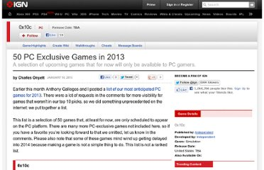http://uk.ign.com/articles/2013/01/18/50-pc-exclusive-games-in-2013?zeta_id=20407174&page=1
