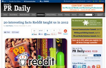 http://www.prdaily.com/marketing/Articles/20_interesting_facts_Reddit_taught_us_in_2012_13160.aspx