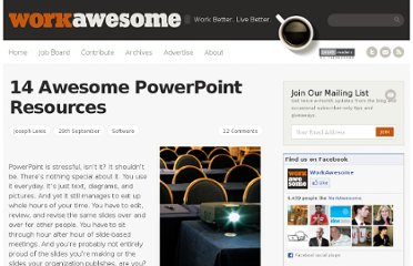http://workawesome.com/software/14-awesome-powerpoint-resources/