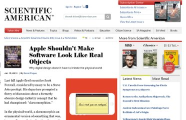 http://www.scientificamerican.com/article.cfm?id=apple-shouldnt-make-software-look-like-real-objects