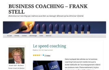 http://frankstell.com/2013/01/16/le-speed-coaching/