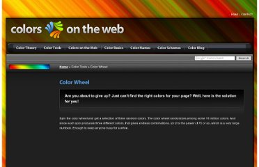 http://www.colorsontheweb.com/colorwheel.asp