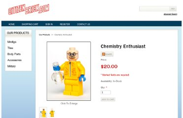 http://shop.citizenbrick.com/Chemistry-Enthusiast-81320.htm