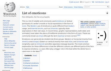 http://en.wikipedia.org/wiki/List_of_emoticons
