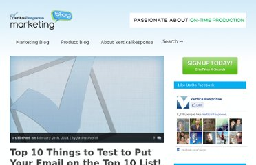 http://www.verticalresponse.com/blog/top-10-things-to-test-to-put-your-email-on-the-top-ten-list/