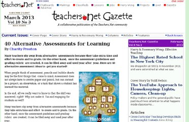 http://gazette.teachers.net/gazette/wordpress/charity-preston/assessments-for-learning/