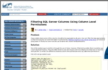http://www.mssqltips.com/sqlservertip/2124/filtering-sql-server-columns-using-column-level-permissions/