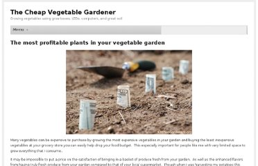 http://www.cheapvegetablegardener.com/most-profitable-plants-in-your/