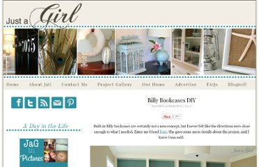 http://www.justagirlblog.com/billy-bookcases-diy/