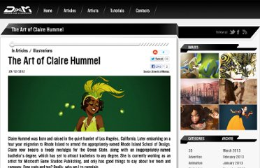 http://drawasamaniac.com/2012/12/the-art-of-claire-hummel.html