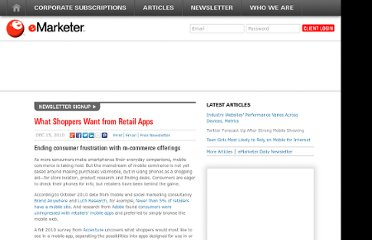 http://www.emarketer.com/Article/What-Shoppers-Want-Retail-Apps/1008110