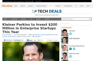 http://go.bloomberg.com/tech-deals/2013-01-23-kleiner-perkins-to-invest-200-million-in-enterprise-startups-this-year/