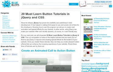 http://blueblots.com/tutorials/20-must-learn-button-tutorials-in-jquery-and-css/