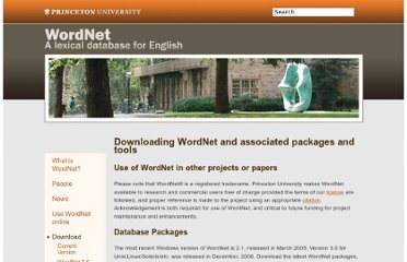 http://wordnet.princeton.edu/wordnet/download/