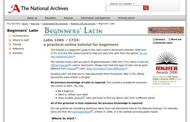 http://www.nationalarchives.gov.uk/latin/beginners/
