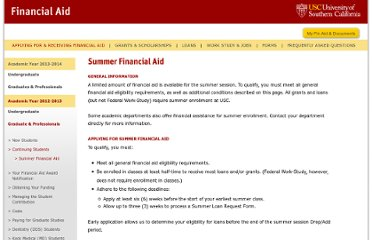 http://www.usc.edu/admission/fa/applying_receiving/graduates1/summer.html