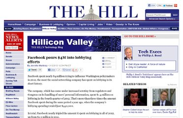 http://thehill.com/blogs/hillicon-valley/technology/278807-facebook-pours-4m-into-lobbying-efforts