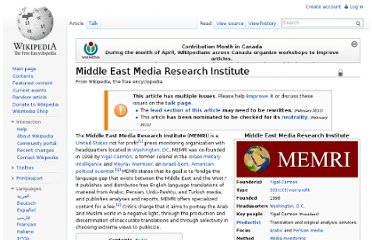 http://en.wikipedia.org/wiki/Middle_East_Media_Research_Institute