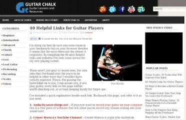 http://www.guitarchalk.com/2012/10/40-helpful-links-for-guitar-players.html