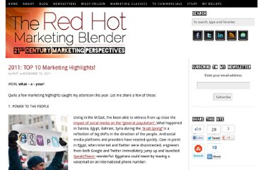 http://www.redhotmarketingblender.com/2011/12/2011-top-10-marketing-highlights/