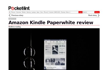http://www.pocket-lint.com/review/6021/amazon-kindle-paperwhite-ebook-reader-review