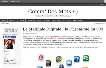 http://commdesmots.owni.fr/2013/01/24/la-matinale-digitale-la-chronique-du-cm/