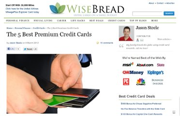 http://www.wisebread.com/the-5-best-premium-credit-cards