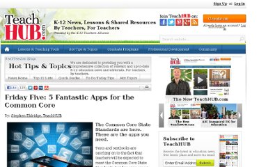 http://www.teachhub.com/friday-five-5-fantastic-apps-common-core