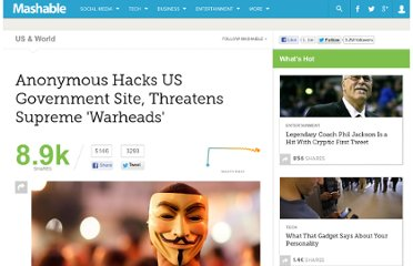 http://mashable.com/2013/01/26/anonymous-hack-government-website-declares-war/