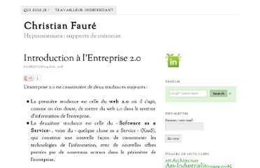 http://www.christian-faure.net/2008/05/09/introduction-a-lentreprise-20/