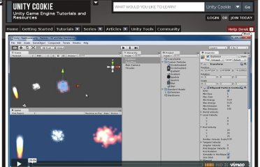 http://cgcookie.com/unity/2012/02/13/unity-particles-getting-started-with-particles/