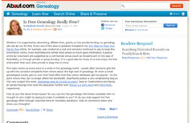 http://genealogy.about.com/b/2007/08/27/is-free-genealogy-really-free.htm