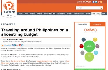 http://www.rappler.com/life-and-style/2304-traveling-around-philippines-on-a-shoestring-budget