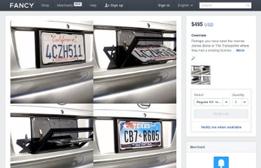 http://www.thefancy.com/things/282217470842901901/License-Plate-Flipper