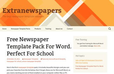 http://www.extranewspapers.com/newspaper-template-pack-word-school/
