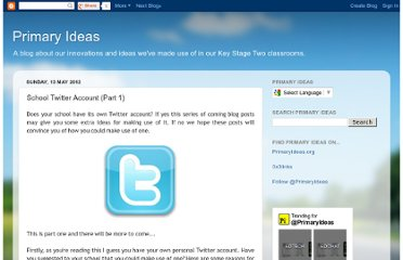 http://primary-ideas.blogspot.com/2012/05/school-twitter-account-part-1.html