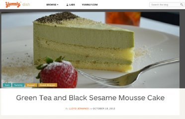 http://www.yummly.com/blog/2012/10/green-tea-and-black-sesame-mousse-cake/