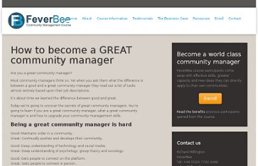 http://course.feverbee.com/greatcommunitymanager/