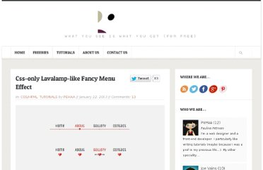 http://pepsized.com/css-only-lavalamp-like-fancy-menu-effect/