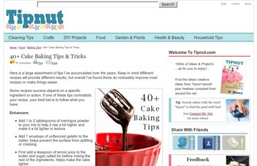 http://tipnut.com/cake-baking-tips/
