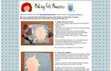 http://members.chello.nl/p.ijzendoorn5/moshi-moshi/feltmonstertut/index.htm